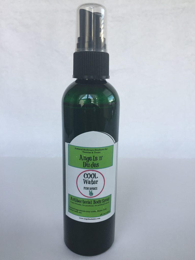 Cool Water Natural Antibacterial Body Spray - Angels n Dudes
