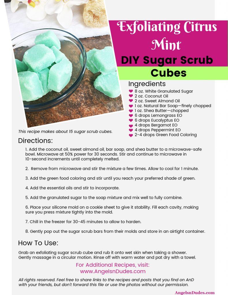 Homemade Sugar Scrub Bars